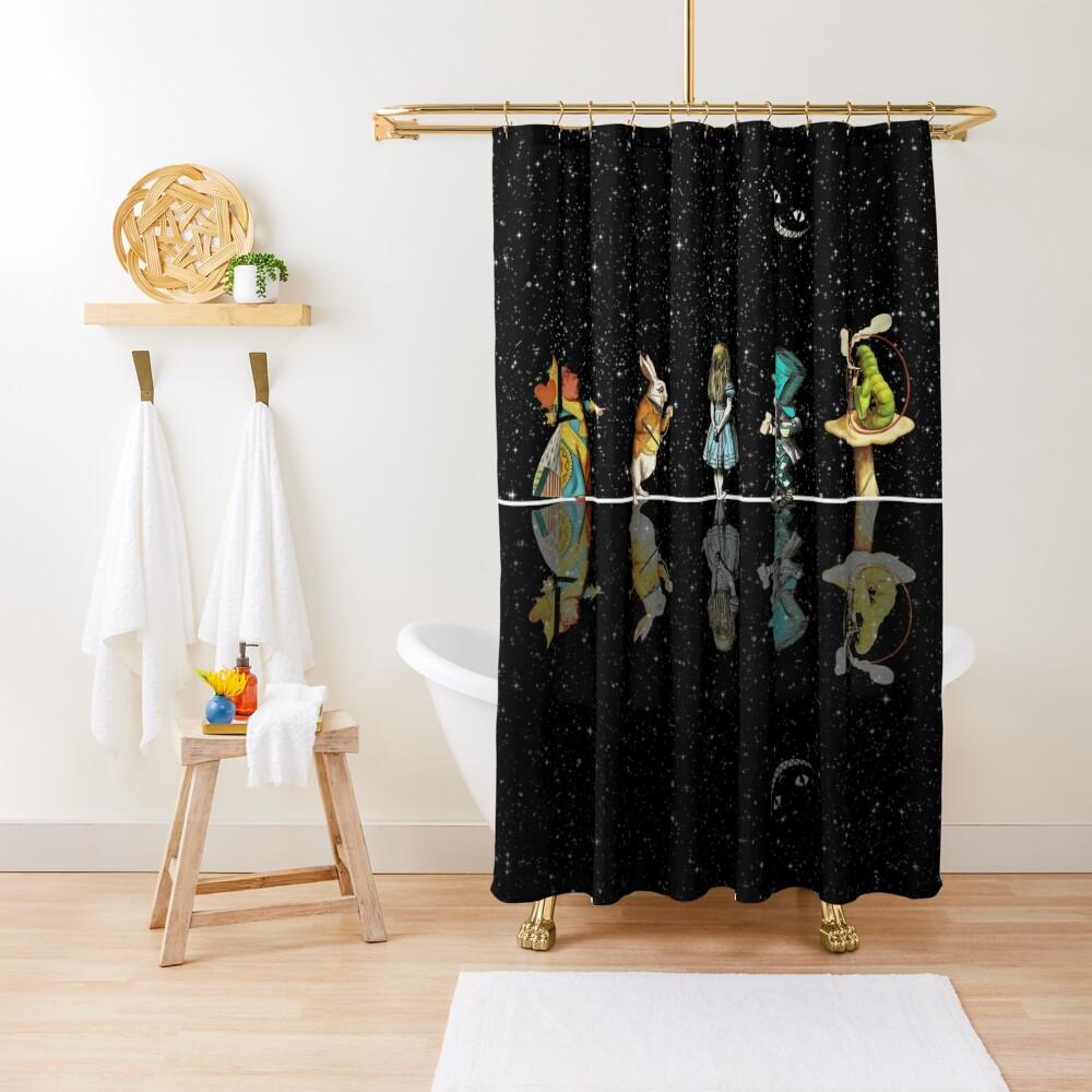 Wonderland Starry Night - Alice In Wonderland Shower Curtain