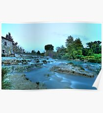 Gorello and Mulino Waterfall  (Hot Springs) Poster