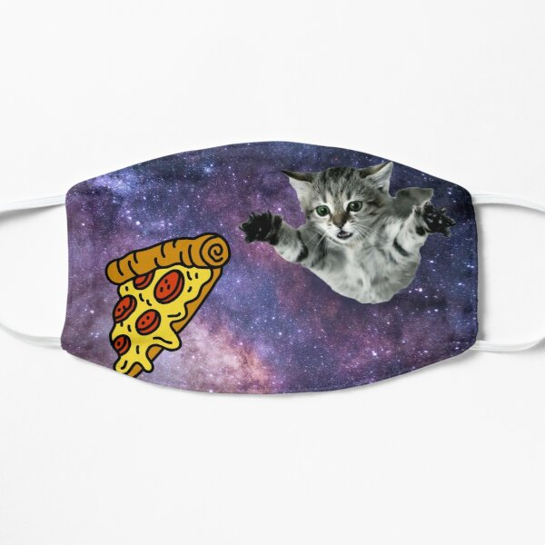 Galaxy Space Kitty Cat Pizza Face Mask Mask