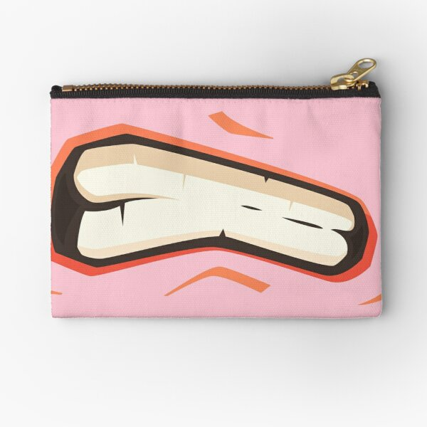 SUPER ANGRY MEN  MOUTH face mask cool desings. Zipper Pouch