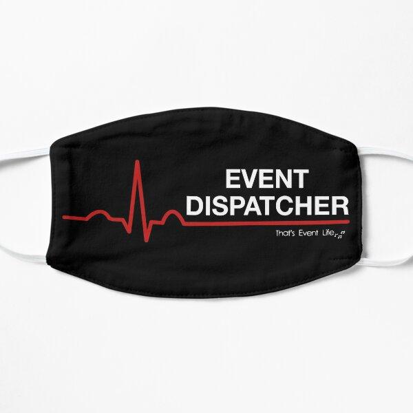 Event Medicine Dispatcher ECG Style (White/Red) Flat Mask