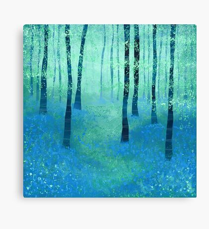 Bluebells, Challock Canvas Print