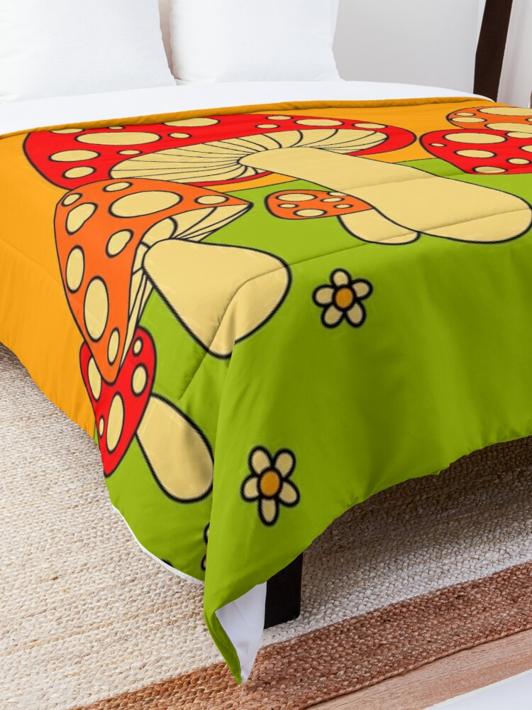 Alternate view of Mushrooms Comforter