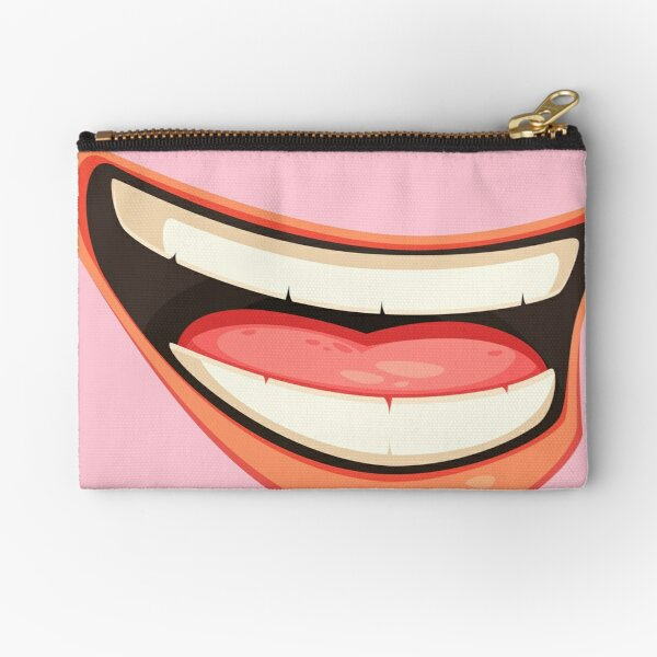 LAUPHING MEN  MOUTH face mask cool desings. Zipper Pouch
