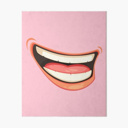 LAUPHING MEN  MOUTH face mask cool desings. Art Board Print