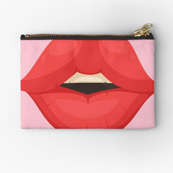 KISS WOMEN MOUTH face mask cool desings. Zipper Pouch
