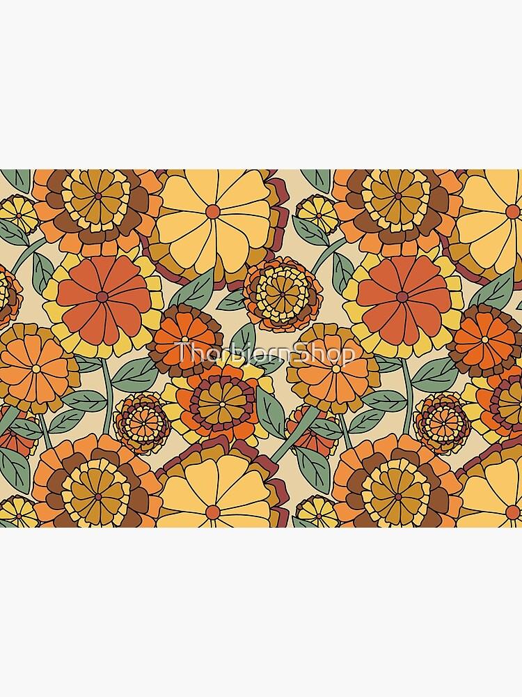 Groovy Marigold Floral by ThorbjornShop