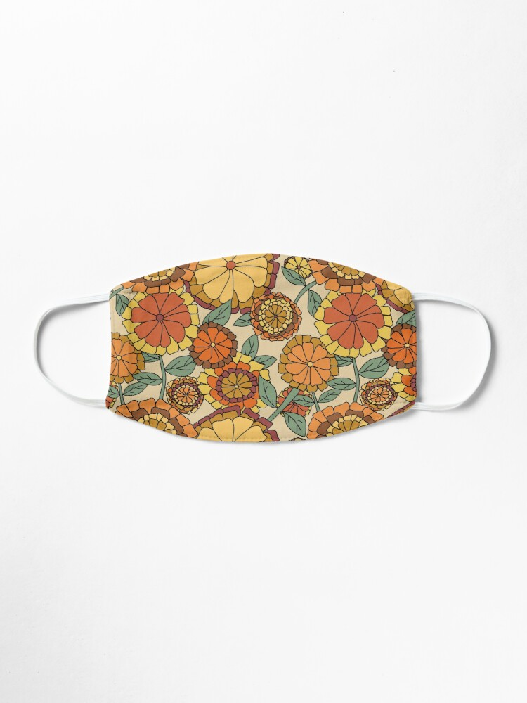 Alternate view of Groovy Marigold Floral Mask