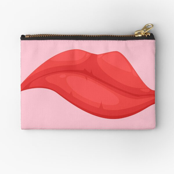 THINKING  WOMEN  MOUTH face mask cool desings. Zipper Pouch