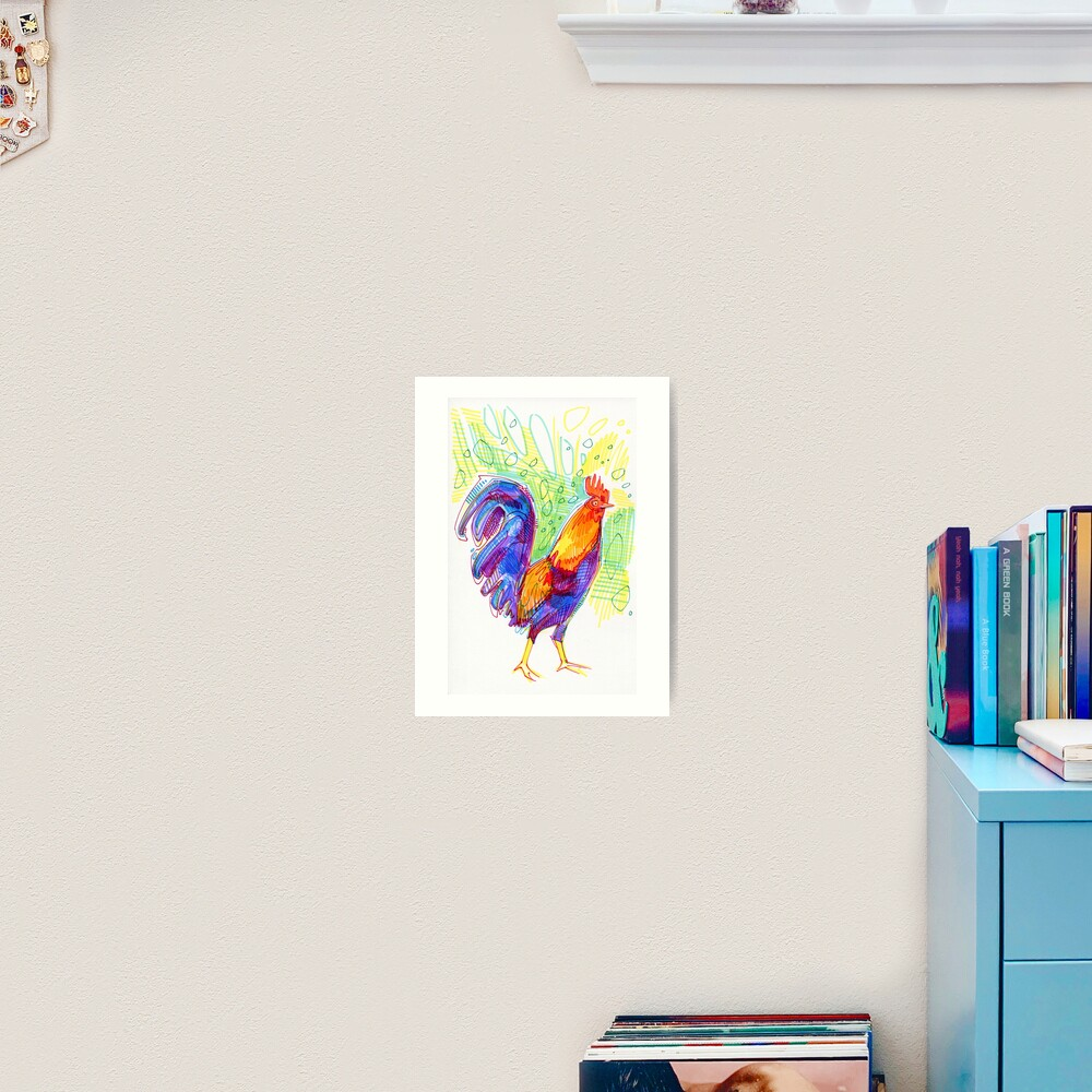 Rooster Drawing - 2011 Art Print