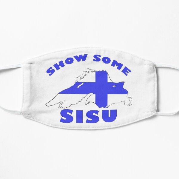 SISU Lake Superior USA CANADA Finnish Heritage Flat Mask