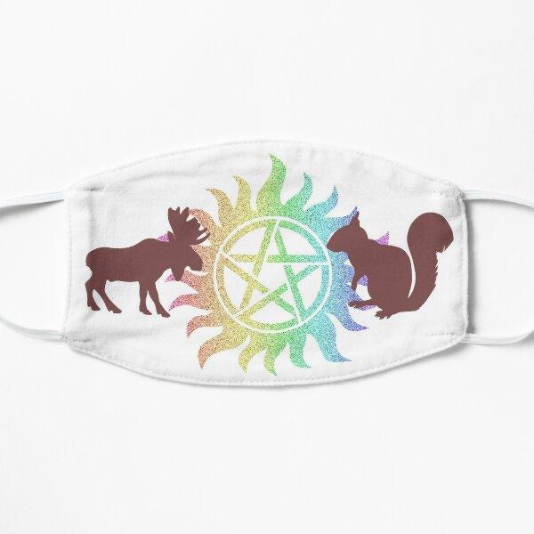 Moose and Squirrel w/Rainbow Anti possession Symbol Flat Mask