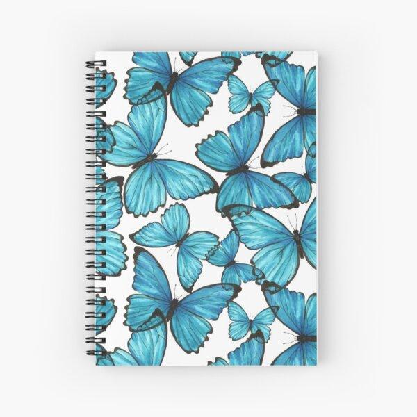 Blue Butterflies ʚĭɞ Spiral Notebook