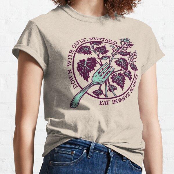 Abajo con mostaza de ajo Camiseta clásica
