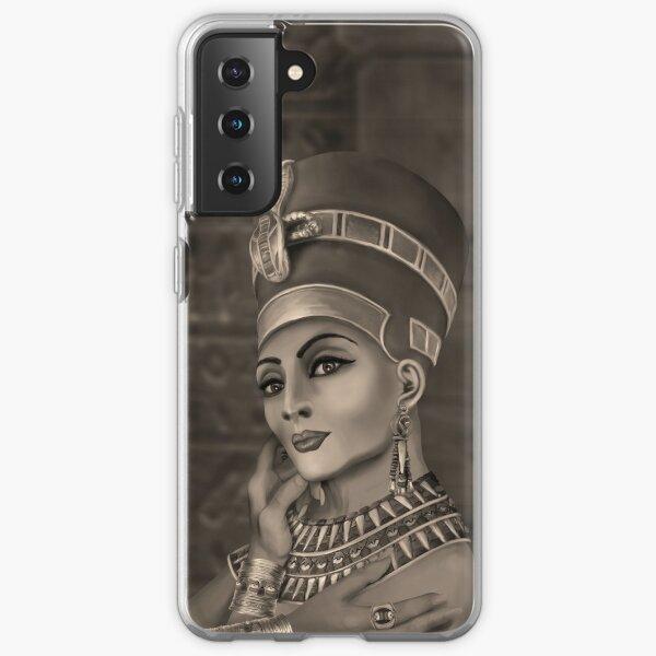 Nefertiti - the Egyptian Queen - sepia Samsung Galaxy Soft Case