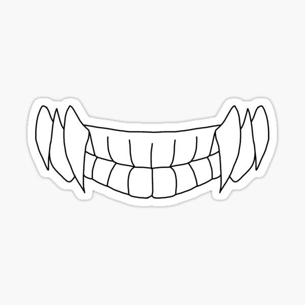 Pañuelo Himiko Toga Teeth Pegatina