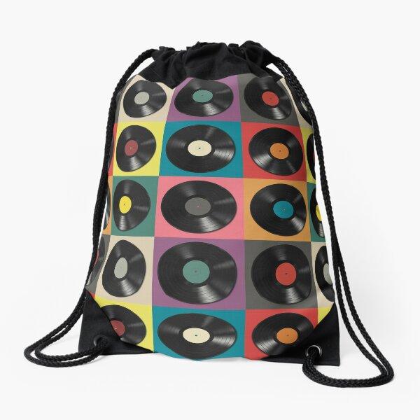 Vinyl Record Drawstring Bag