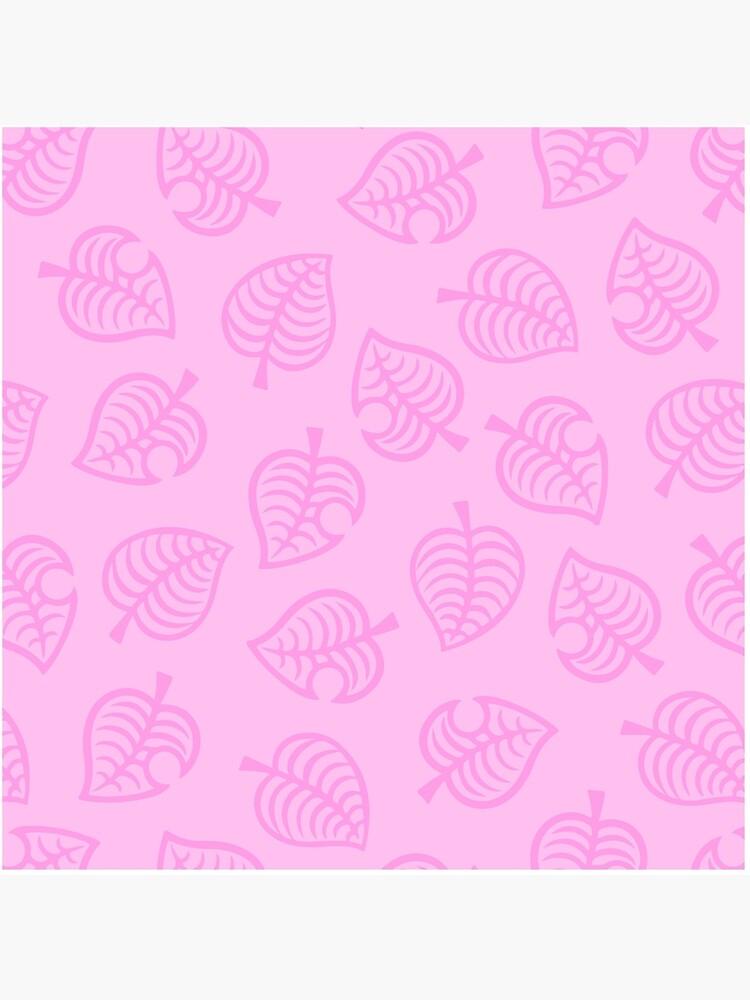 animal crossing new horizons leaf pattern pink