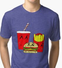 Cute fast food cartoon Tri-blend T-Shirt