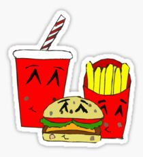 Cute fast food cartoon Sticker