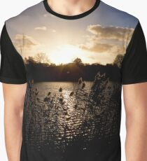Sunset and lake Graphic T-Shirt