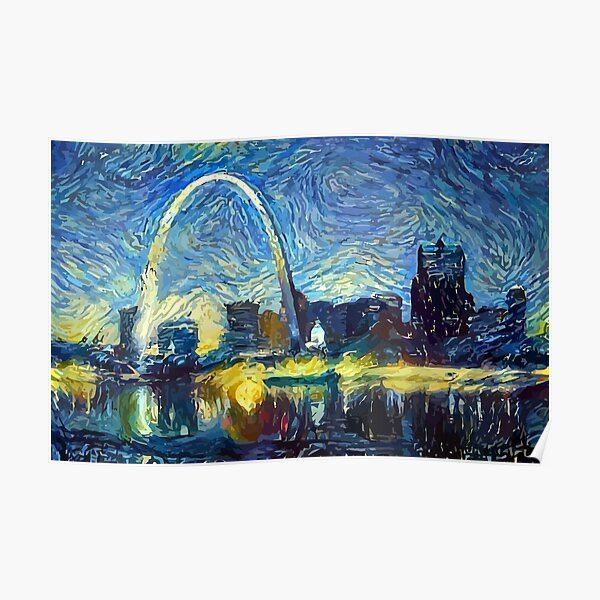 Starry St. Louis Night Poster