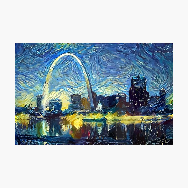 Starry St. Louis Night Photographic Print