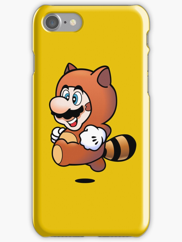 Tanooki Mario iPhone Case by johnlimiac