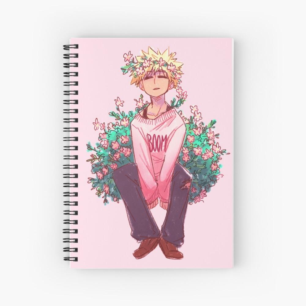 Bakugou in Pink Spiral Notebook