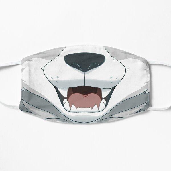 White Wolf Mouth Flat Mask