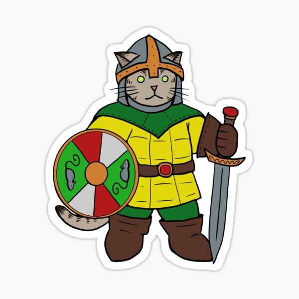 Einar the Warrior Cat  Sticker