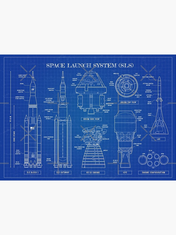 Space Launch System (SLS) Blueprint by BGALAXY