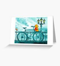 Bicycle And Bear Greeting Card
