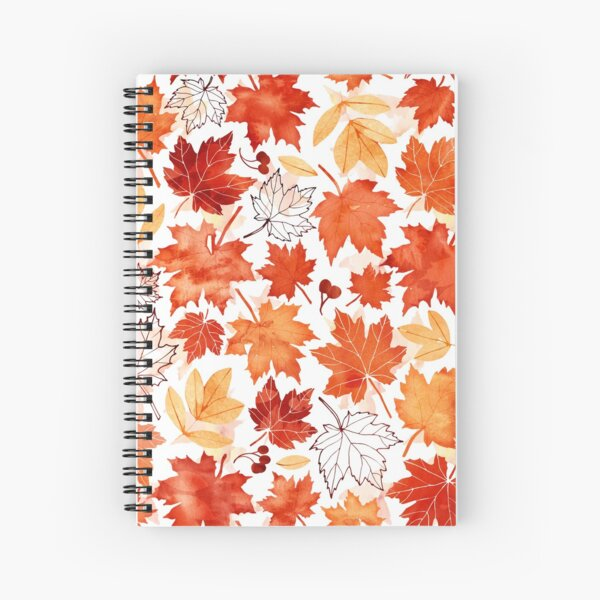 Autumn leaves and berries Spiral Notebook