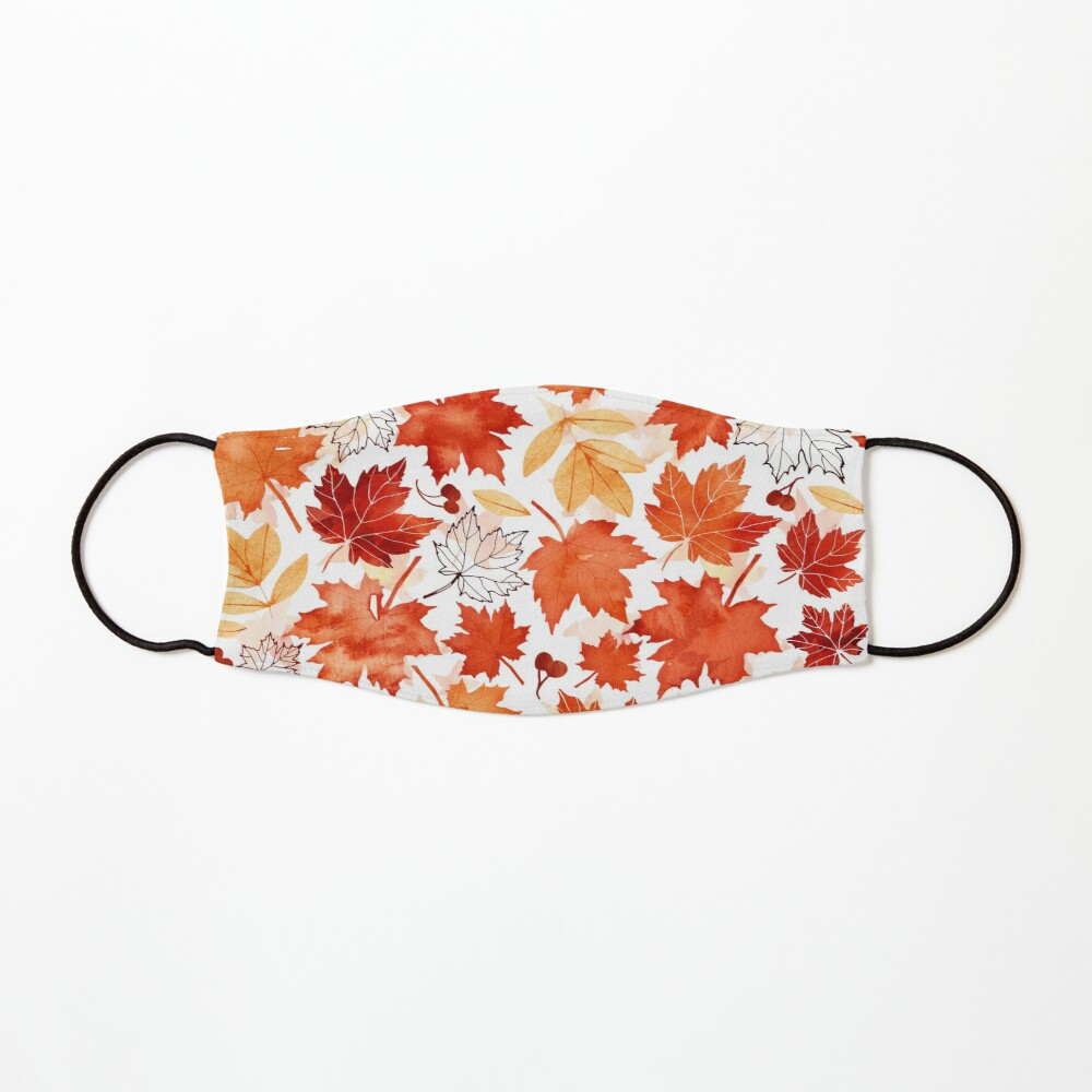 Autumn leaves and berries Mask