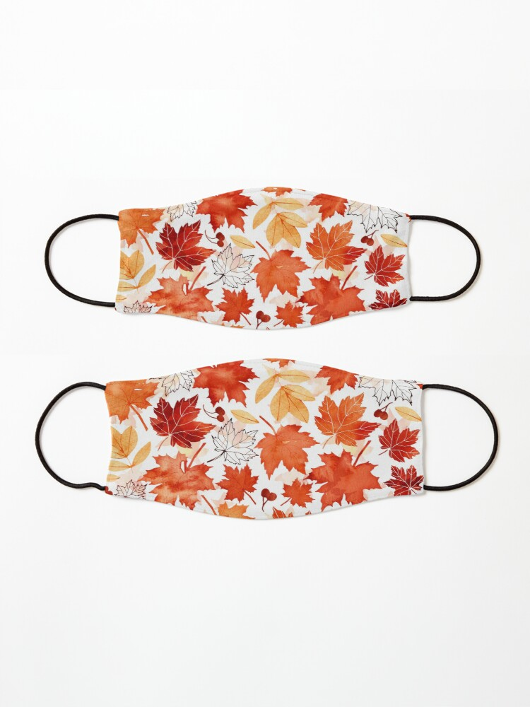 Alternate view of Autumn leaves and berries Mask