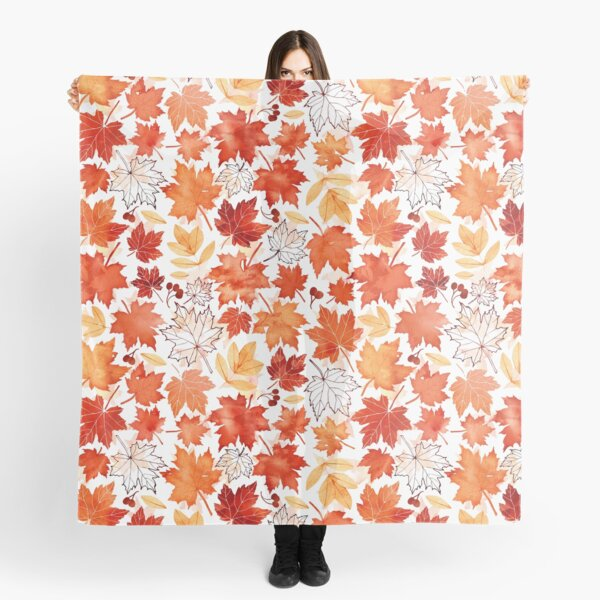 Autumn leaves and berries Scarf