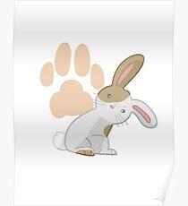 Cute rabbit Poster