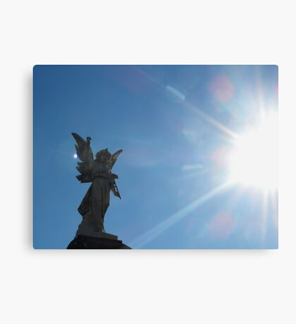Angel in the light Canvas Print