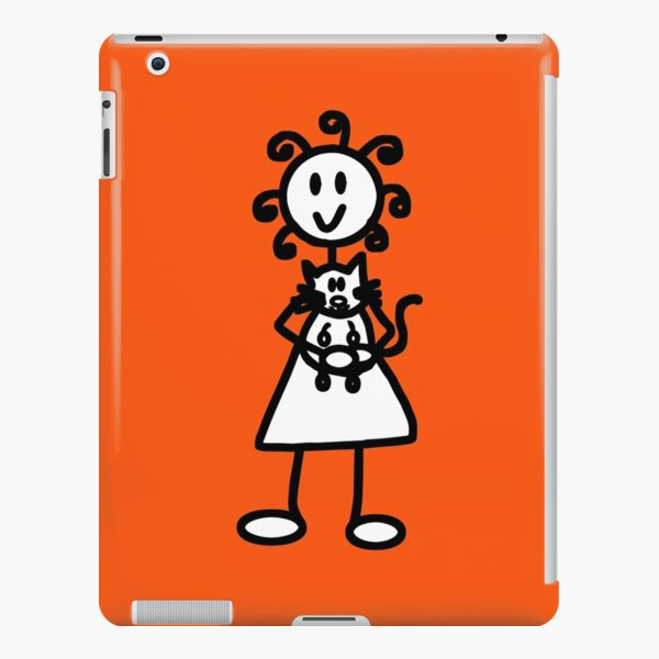 The Girl with the Curly Hair Holding Cat - Orange iPad Snap Case