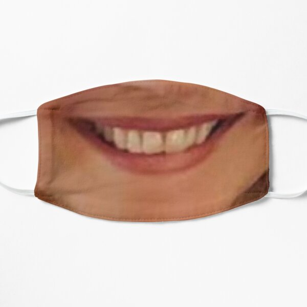 Smile for a face mask, natural looking face mask with female smile Mask