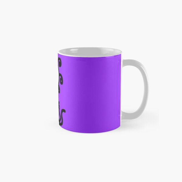 The Girl with the Curly Hair Holding Cat - Light Purple Classic Mug