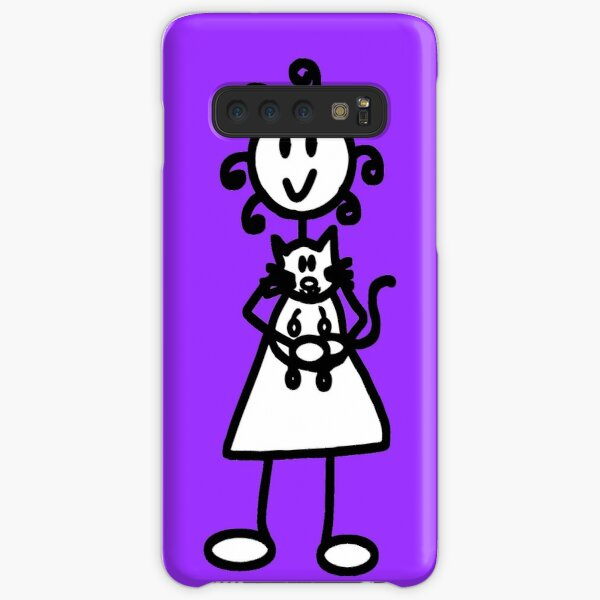 The Girl with the Curly Hair Holding Cat - Light Purple Samsung Galaxy Snap Case
