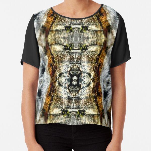 Abstract Blur Design Chiffon Top
