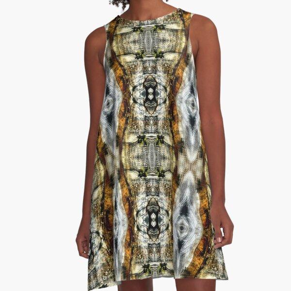 Abstract Blur Design A-Line Dress