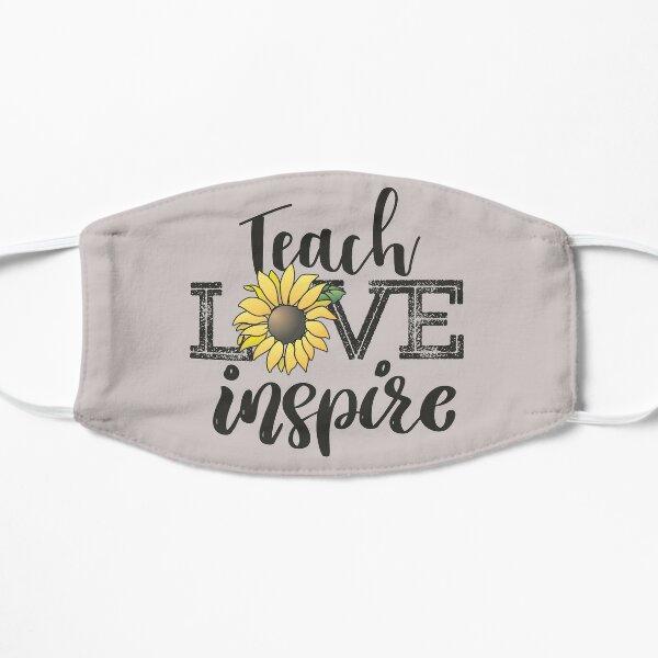 Teach Love Inspire Sunflower teacher inspirational quotes cute lettering  Mask