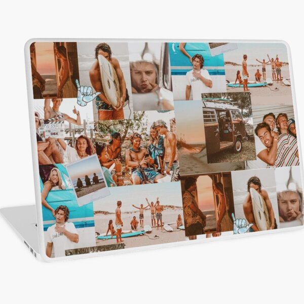 Summer Outer Banks  Aesthetic Collage Laptop Skin