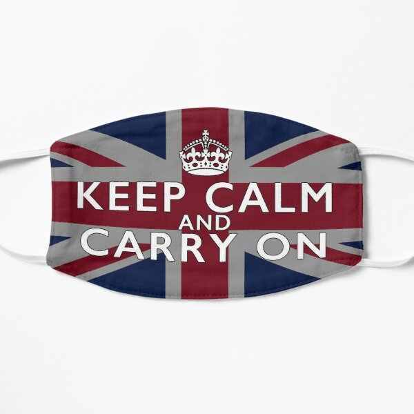 Keep calm and Carry On - Union Jack Facemask Mask