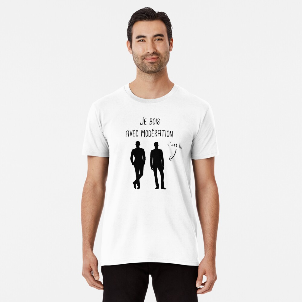 I drink in moderation with him man gift Premium T-Shirt