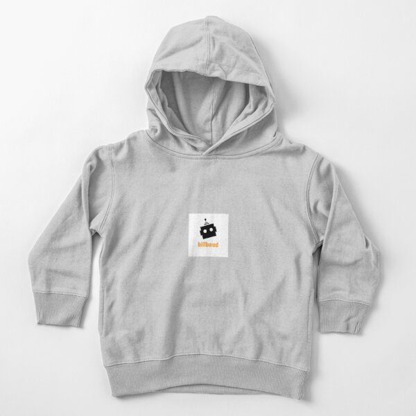 BillBaud White Background Toddler Pullover Hoodie